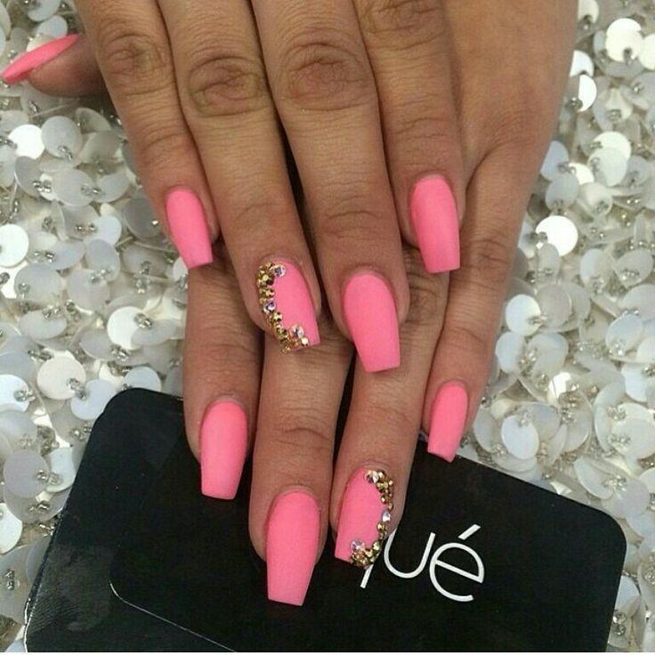 Pink Matte Nail Design Cute Pink Nail Designs For Pretty