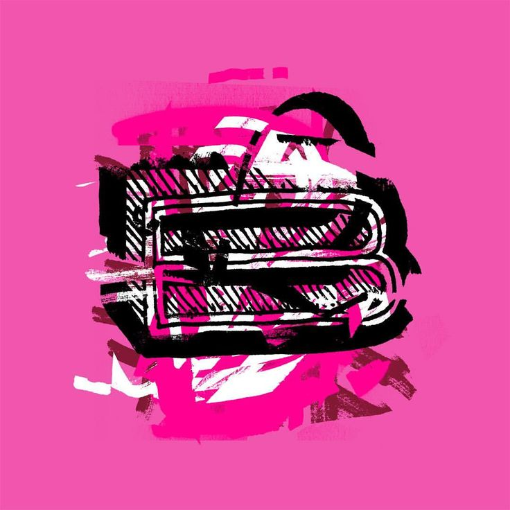 Capital B, deconstructed and reconfigured. #typography #b #lettering #letteringexperiments #design #layers #sharpie #brush #brushpen #layers #grunge #graphicdesign #capitalletters #photoshop #pink #hotpink