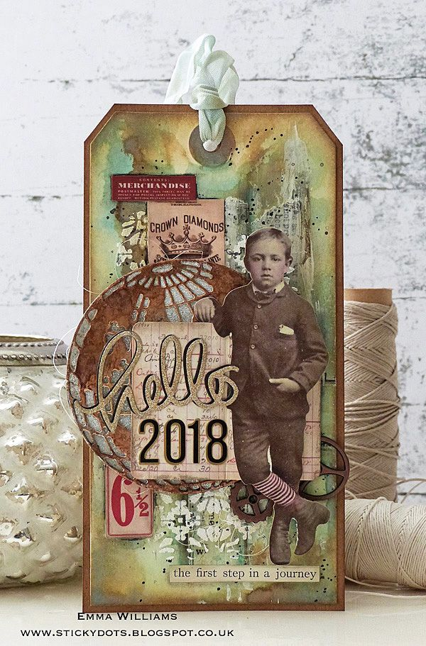 Hello 2018... Created by Emma a Williams for the Simon Says Stamp Monday Challenge Blog