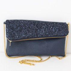 Petit sac en cuir et tissu pailleté - °° Les Noeuds d'Alice °° accessoires et bijoux femmes/enfants, mercerie, cuir