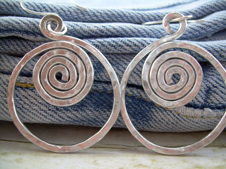 Hammered Aluminum Earrings Aluminum Wire Earrings Silver Hoop Earrings Aluminum Wire Jewelry Spiral Hoops Clip Ons Cyclops. $11.50, via Etsy.