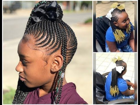 2019 Kids Braided Cornrows Hairstyles For Your Little Girls Unique Look Cornrows For Little Girls Kids Hairstyles Girls Braids