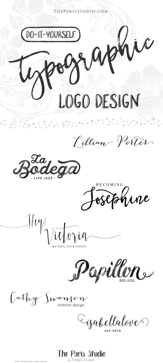 Some of the worlds most recognizable logos are text logos, or typographic logos - think Dior, Chanel, Louis Vuitton, Nike, McDonalds, CNN, Netflix, HBO... and thats what this package is for - creating a typographic or text only logo design package for you. With YOU choosing the FONT (out of my over 4600+ fonts collection) to create your very own unique logo design, perfect for your website or blog, your business or eCommerce website. Before placing an order, please read the instructions…