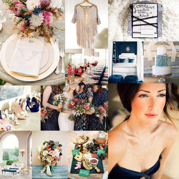 Modern colorful bohemian wedding inspiration | EAD