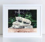 Penn State Nittany Lion Shrine Giclee Print of Watercolor Painting 8 x 10 11 x 14 inches Fine Art Poster State College PSU Football Campus Alumni Pennsylvania University