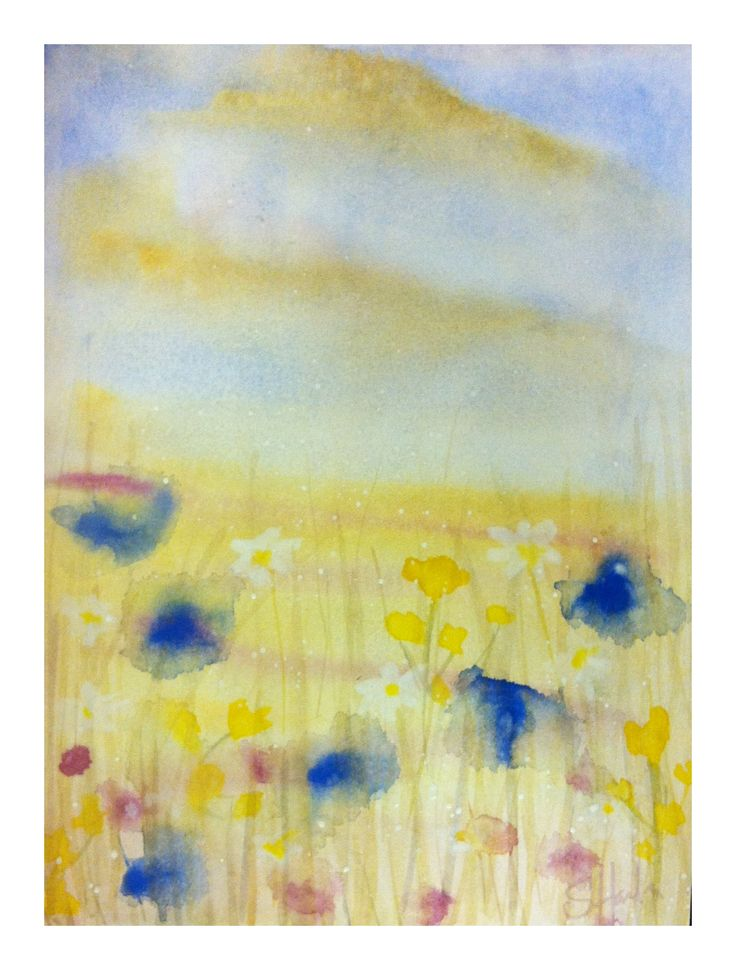 #watercolour, #cornflower and #daisies