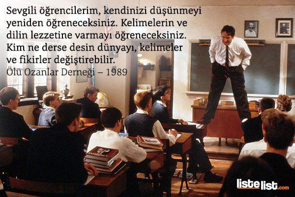 """""""Kim ne derse desin, sözcükler ve düşünceler dünyayı değiştirebilir"""" #sözlerorijinal #değişim #change"""