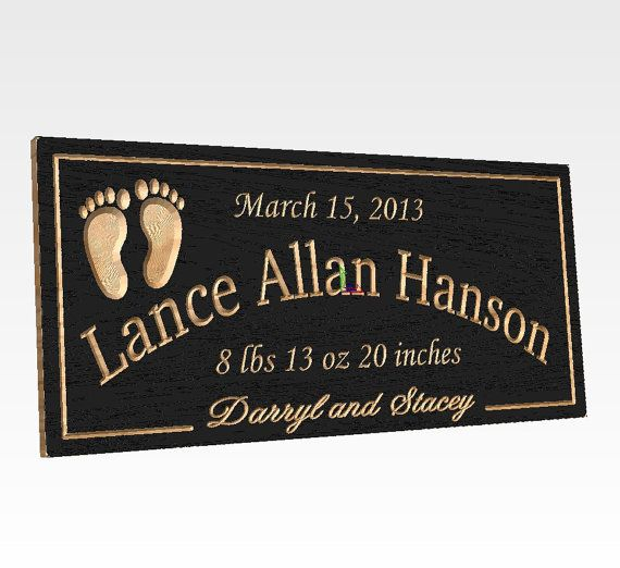 25 best baby children images on pinterest births baby names baby name birth information sign carved wooden by tkwoodcrafts 3295 personalized signsbaby negle Images