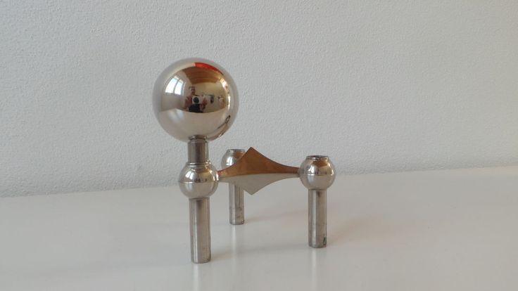1 Designer NAGEL Kugel für Kerzenhalter Kerzenständer 60er BMF Quist Space Age