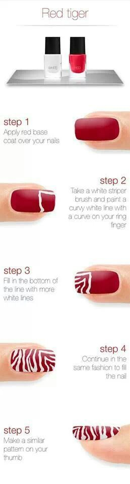 How to do tiger nails. It works Petty good Its just that when you do it you have to be very still.