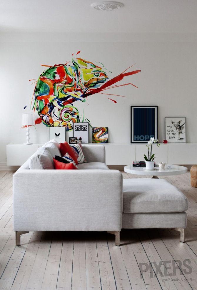 Chameleon - inspiration wallmurals, interiors gallery• PIXERSIZE.com