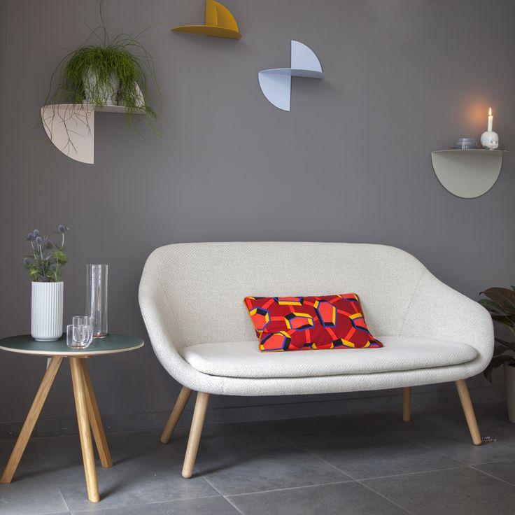 Pivot Shelf designed by Lex Pott, About A Lounge Sofa by Hee Welling, Copenhague Round Table CPH20 by Ronan & Erwan Bourroullec