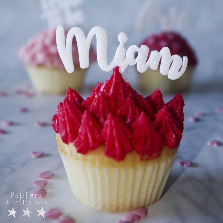 {DIY} Cake topper en plastique dingue – Papiers & Petits Mots - tuto cake topper gateau enterrement viede jeune fille - bride to be - decoration - idée - cupcakes