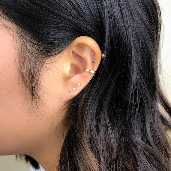 Ear Cuff Fake Conch Ring Etsy Diamond Shape Earrings Gold Ear Cuff Silver Ear Cuff