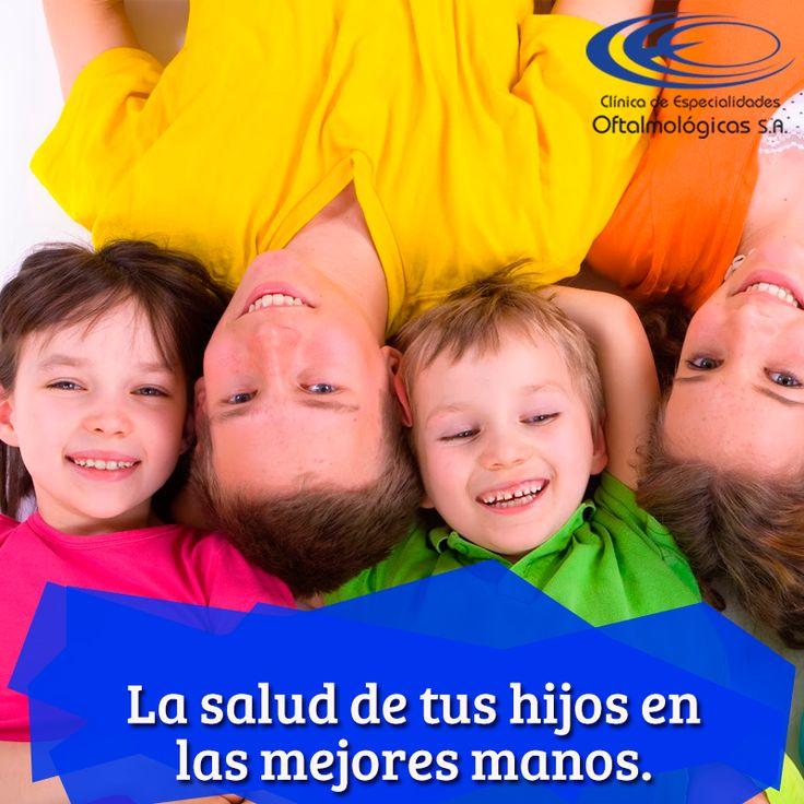 En la #ClínicaCEO contamos con especialistas que se encargan de la salud visual de los niños. Solicita las citas online en www.ceomedellin.com #Oftalmopediatría Foto vía http://goo.gl/GNBy47