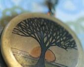 Locket necklace Tree of life Locket