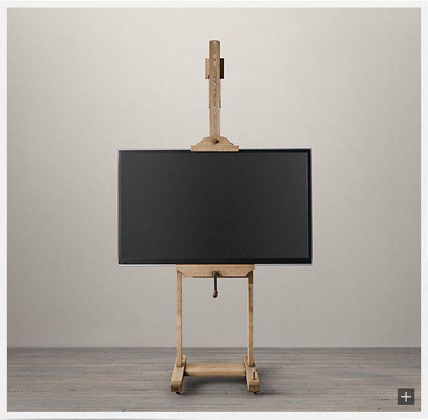 TV Easel from Restoration Hardware (where else...?)