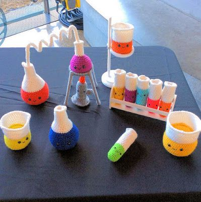 Medical Laboratory and Biomedical Science: Adorable Crocheted Chemistry Set