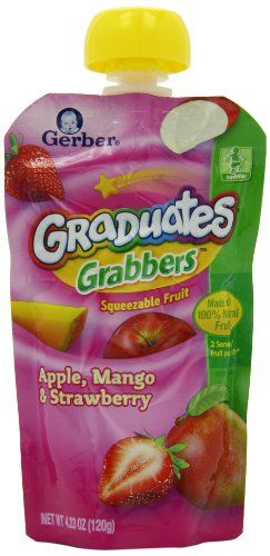 Black Friday Gerber Graduates Grabbers, Apple, Mango and Strawberry, 4.23-Ounce, 12-Count from Gerber