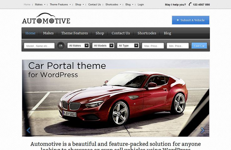 Templatic Nulled Automotive theme