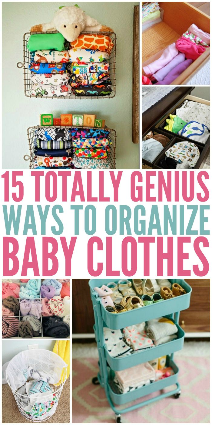Looking to reorganize your nursery? We've found some super nifty ways to store all those sweet baby clothes.