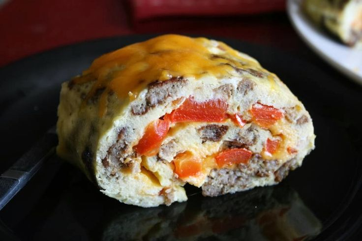 Oven Baked Rolled Omelet. Easy to make but looks fancy. Perfect for company brunch or fun family breakfast.