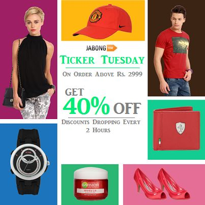 Get Ready for the Ticker Tuesday!  Get Extra 40% OFF, Use Coupon: SALE40. Discounts Dropping Every 2 Hours. Hurry!!  Shop Now: http://bit.ly/R3Eg5I