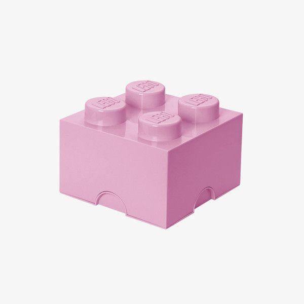 Opbergdoos klein van Lego / Pastelroze