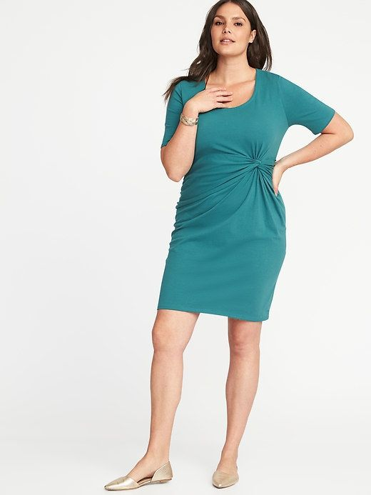 Old Navy Plus-Size Twist-Front Bodycon Dress | Products | Spandex ...