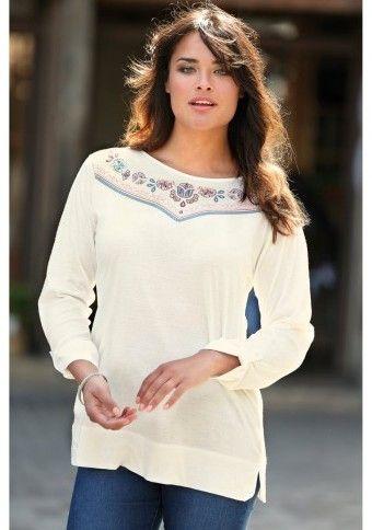 Tričko s potlačou výšivky #ModinoSK