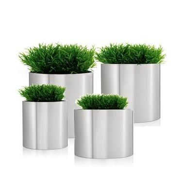 The Blomus Stainless Steel Round Are Attractive And Stylish Highly  Functional Modern Planters That Are Easy To Clean And Maintain And  Available In 5 Sizes
