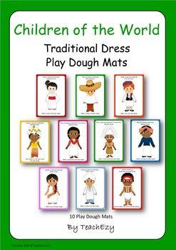Children of the World Play Dough Mats