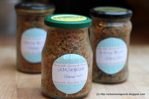 Schöner Tag noch! Food-Blog mit leckeren Rezepten für jeden Tag: Selbstgemachte Gemüsebrühe-Paste statt Brühwürfel und gekörnter Brühe!
