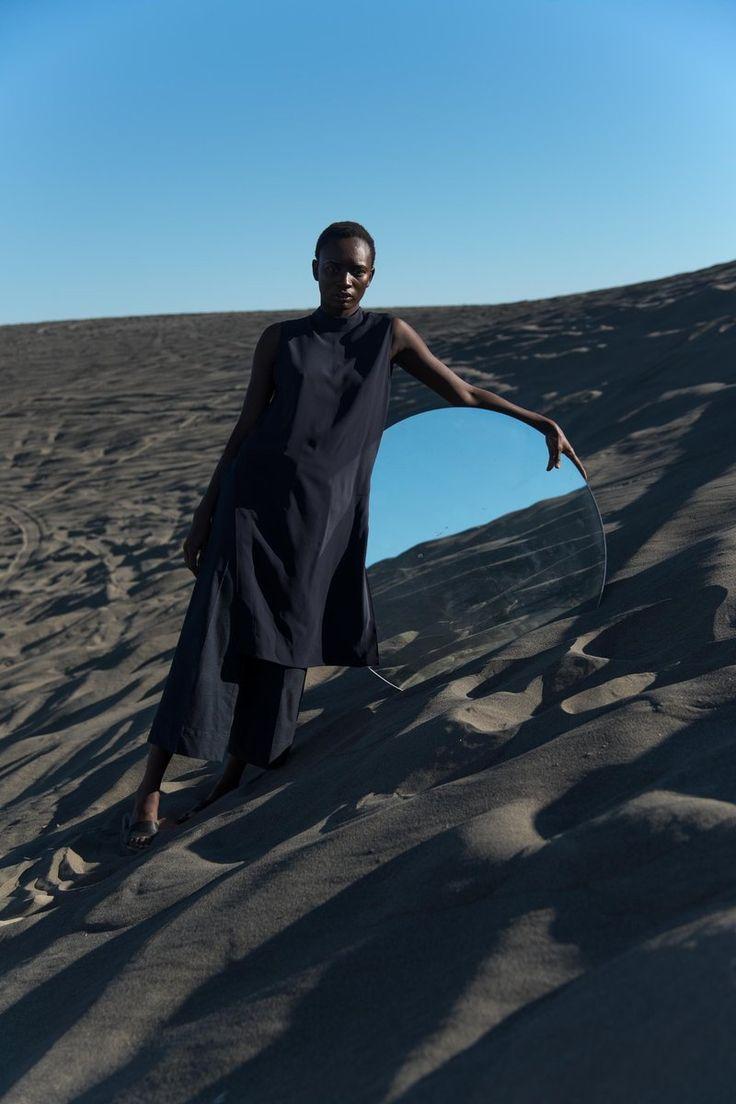 Book I - Bethany Vargas  Desert sand mirror fashion editorial
