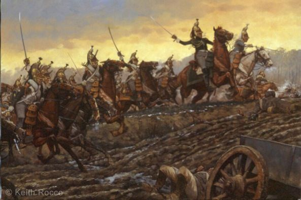 « Attack of the Dragoons of the Guard at Montmirail », par Keith Rocco