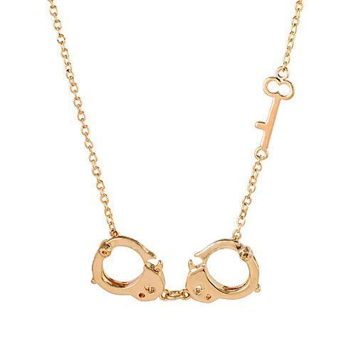 Мода пара стиль популярные любовник наручники ожерелье, наручники с ключ ожерелье