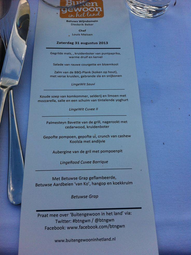 bij Buitengewoon In Het Land stonden de CedarWood BbqPlanken ook op de menukaart.