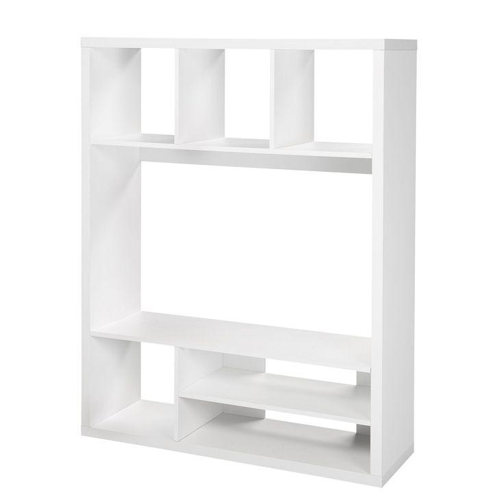 living tv blanc blanc kubico les tagres composer etagres et livings - Mini Meuble Tv Alinea