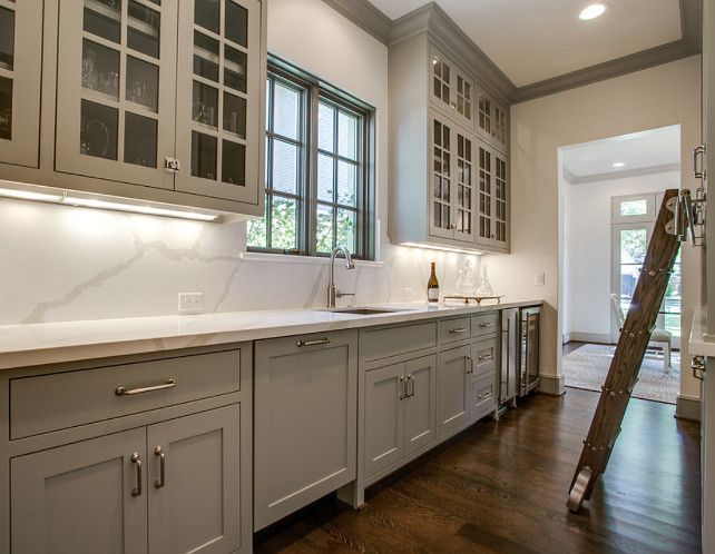 Sherwin Williams Alabaster. Alabaster Sherwin Williams. Sherwin Williams  Alabaster Paint Color. #SherwinWilliamsAlabaster · Gray CabinetsKitchen ...