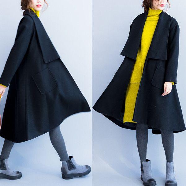Women winter wool coat - Tkdress - 1