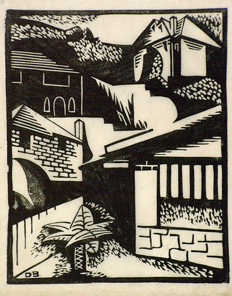 Dorrit Black (1891-1951) | Hillside houses, c. 1931