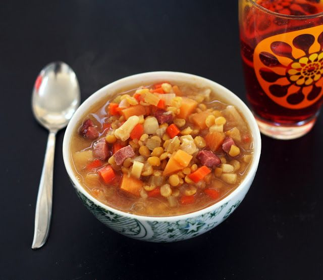 Sunny Yellow Split Pea Vegetable Soup