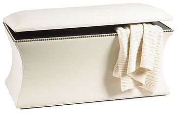 Courbe Storage Bench - traditional - bedroom benches - Ballard Designs