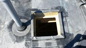 EPDM curbed in skylight