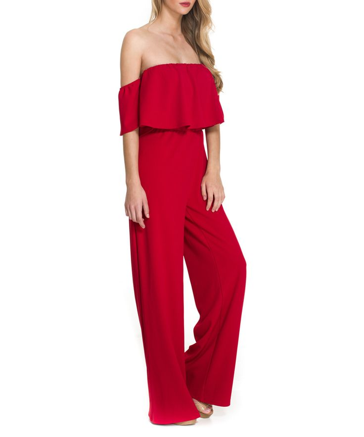 57 % off - Almatrichi Red double layer Bardot jumpsuit, Designer  Sale, Almatrichi, SECRETSALES