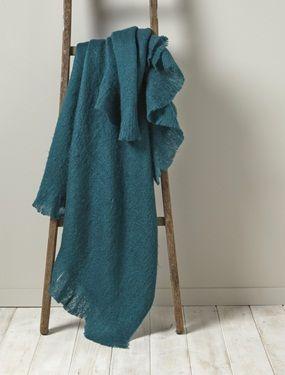 Légeret vaporeux, ce sublime plaid reproduit à la perfection l'aspect du mohair. Son coloris ultra tendance contribue à réchauffer votre intérieur. DétailsToucher doux. Dim. 130 x 170 cm. Finition franges.Lavable en machine (laine délicat).Matière45% acrylique, 30% polyester, 25% laine;