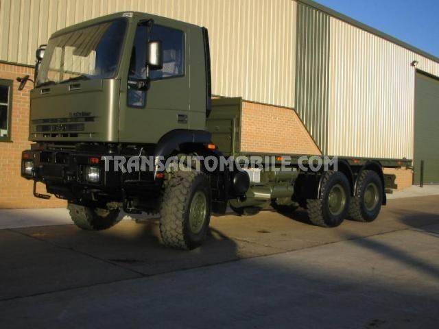 Trucks Flatbed Iveco Eurotrakker 260E37 EX ARMY 6X6 https://www.transautomobile.com/en/export-iveco-eurotrakker-260e37/1471?PI