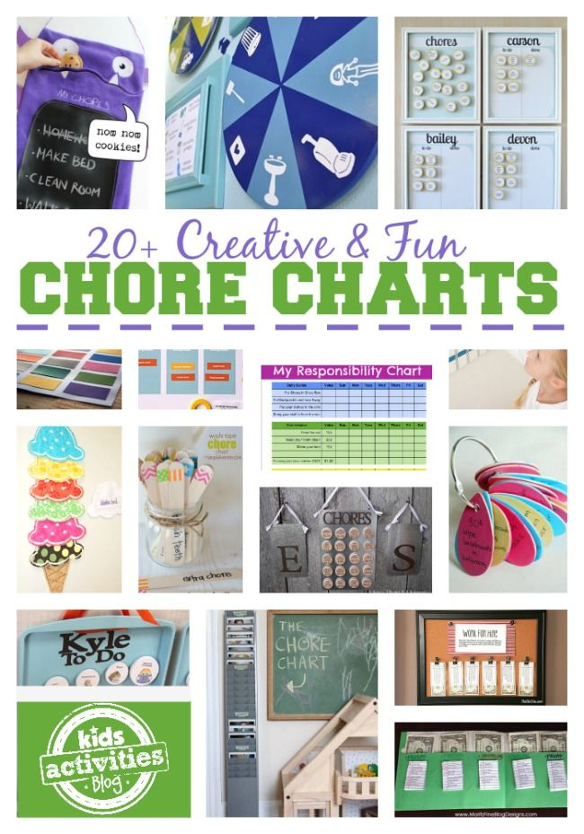 20 Best Chore Charts for Kids - Kids Activities Blog
