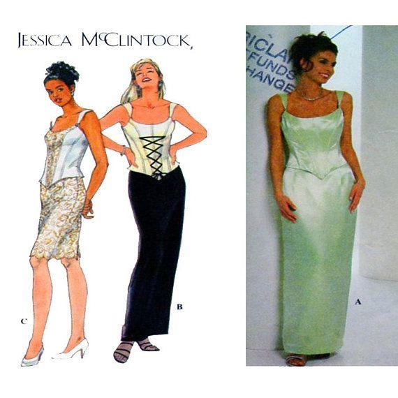 JESSICA McCLINTOCK Full Length Evening Gown Simplicity