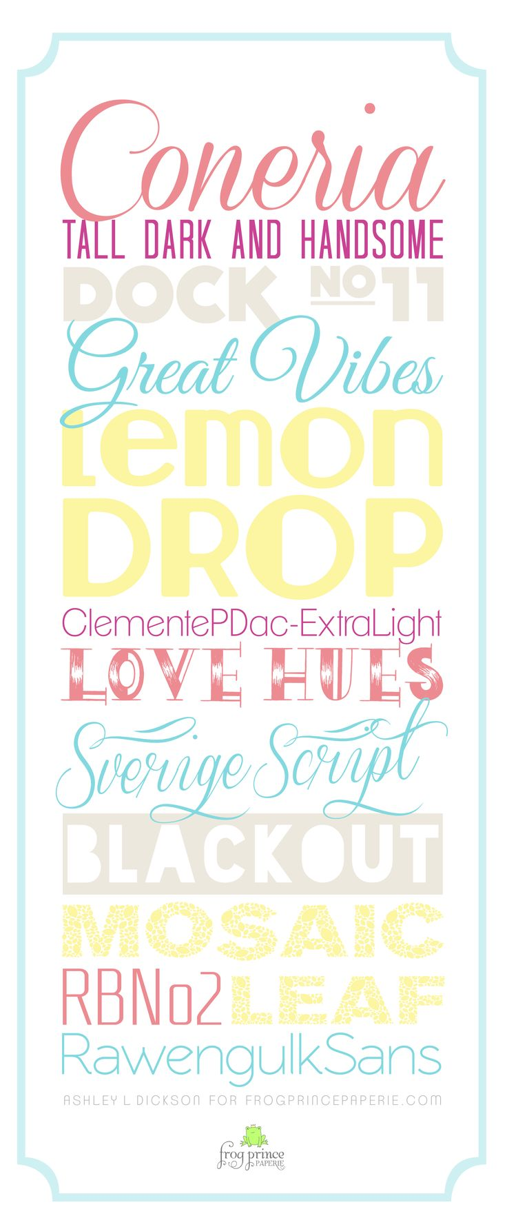 Summer is here and there is nothing quite like a few new free fonts to freshen up your design wardrobe…kind of like buying yourself a new bathing suit or pretty new sandals except in fonts. And they're free, so no buyer's remorse. These breezy fonts collected by Frog Prince Designer Ashley Dickson conjour up images …